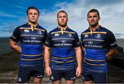 28 September 2016; Canterbury has unveiled the new Leinster European jersey which will be worn for the first time against Castres in the opening round of the European Rugby Champions Cup on October 15th. The new Leinster European jersey is available exclusively from Life Style Sports – www.lifestylesports.com. Pictured are Leinster players, from left, Robbie Henshaw, Sean O'Brien and Rob Kearney at Poolbeg Lighthouse, North Bull Wall in Dublin. Photo by Stephen McCarthy/Sportsfile