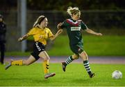 28 September 2016; Valerie Mulcahy of Cork City WFC in action against Michella Farrell of Kilkenny United WFC during the Continental Tyres Women's National League match between Kilkenny United WFC and Cork City WFC at The Watershed in Kilkenny. Photo by Seb Daly/Sportsfile