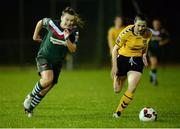 28 September 2016; Saoirse Noonan of Cork City WFC in action against Alanna Dolan of Kilkenny United WFC during the Continental Tyres Women's National League match between Kilkenny United WFC and Cork City WFC at The Watershed in Kilkenny. Photo by Seb Daly/Sportsfile