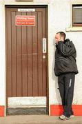 6 February 2011; Brian Dooher, Tyrone, outside the changing rooms before the game. Allianz Football League Division 2 Round 1, Derry v Tyrone, Celtic Park, Derry. Picture credit: Oliver McVeigh  / SPORTSFILE