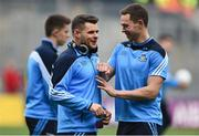 1 October 2016; Kevin McManamon, left, and Dean Rock of Dublin ahead of the GAA Football All-Ireland Senior Championship Final Replay match between Dublin and Mayo at Croke Park in Dublin. Photo by David Maher/Sportsfile