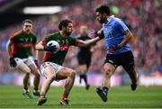 1 October 2016; Tom Parsons of Mayo in action against Cian O'Sullivan of Dublin during the GAA Football All-Ireland Senior Championship Final Replay match between Dublin and Mayo at Croke Park in Dublin. Photo by Brendan Moran/Sportsfile