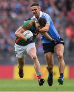 1 October 2016; Jason Doherty of Mayo in action against James McCarthy of Dublin during the GAA Football All-Ireland Senior Championship Final Replay match between Dublin and Mayo at Croke Park in Dublin. Photo by David Maher/Sportsfile