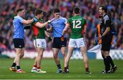 1 October 2016; Diarmuid Connolly of Dublin has his jersey pulled by Lee Keegan of Mayo during the GAA Football All-Ireland Senior Championship Final Replay match between Dublin and Mayo at Croke Park in Dublin. Photo by Stephen McCarthy/Sportsfile