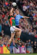 1 October 2016; James McCarthy of Dublin in action against Patrick Durcan of Mayo during the GAA Football All-Ireland Senior Championship Final Replay match between Dublin and Mayo at Croke Park in Dublin. Photo by Piaras Ó Mídheach/Sportsfile