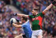 1 October 2016; Paul Flynn of Dublin in action against Seamus O'Shea of Mayo during the GAA Football All-Ireland Senior Championship Final Replay match between Dublin and Mayo at Croke Park in Dublin. Photo by Paul Mohan/Sportsfile