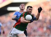 1 October 2016; Seamus O'Shea of Mayo in action against Paul Flynn of Dublin during the GAA Football All-Ireland Senior Championship Final Replay match between Dublin and Mayo at Croke Park in Dublin. Photo by Brendan Moran/Sportsfile