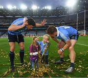1 October 2016; Bernard Brogan, left, and his Dublin team-mate Paul Flynn with Adian and Sarah Bastick following the GAA Football All-Ireland Senior Championship Final Replay match between Dublin and Mayo at Croke Park in Dublin. Photo by Stephen McCarthy/Sportsfile
