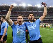 1 October 2016; Paddy Andrews and Cian O'Sullivan of Dublin celebrate after the GAA Football All-Ireland Senior Championship Final Replay match between Dublin and Mayo at Croke Park in Dublin. Photo by Ray McManus/Sportsfile