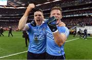 1 October 2016; Paddy Andrews, left, and Paul Flynn of Dublin celebrate after the GAA Football All-Ireland Senior Championship Final Replay match between Dublin and Mayo at Croke Park in Dublin. Photo by Brendan Moran/Sportsfile