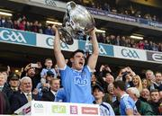 1 October 2016; Diarmuid Connolly of Dublin lifts the Sam Maguire Cup after the GAA Football All-Ireland Senior Championship Final Replay match between Dublin and Mayo at Croke Park in Dublin. Photo by Ray McManus/Sportsfile