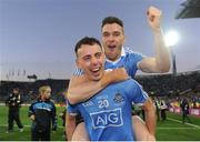 1 October 2016; Cormac Costello, left, and Paddy Andrews of Dublin celebrate following the GAA Football All-Ireland Senior Championship Final Replay match between Dublin and Mayo at Croke Park in Dublin. Photo by Sam Barnes/Sportsfile