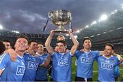 1 October 2016;  Dublin players Paul Flynn, Bernard Brogan, Paddy Andrews, Diarmuid Connolly, Michael Darragh MacAuley and Con O'Callaghan celebrate at the end of the GAA Football All-Ireland Senior Championship Final Replay match between Dublin and Mayo at Croke Park in Dublin. Photo by David Maher/Sportsfile