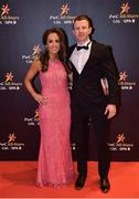 3 November 2017; Mayo footballer Colm Boyle with Laura Hutton upon arrival at the PwC All Stars 2017 at the Convention Centre in Dublin. Photo by Seb Daly/Sportsfile