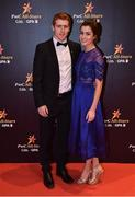 3 November 2017; Tyrone footballer Peter Harte with Aine Canavan upon arrival at the PwC All Stars 2017 at the Convention Centre in Dublin. Photo by Seb Daly/Sportsfile