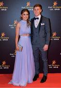 3 November 2017; Dublin footballer Con O'Callaghan with Aoife Kane upon arrival at the PwC All Stars 2017 at the Convention Centre in Dublin. Photo by Brendan Moran/Sportsfile
