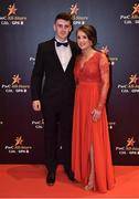 3 November 2017; Mayo footballer Brendan Harrison with Natasha Cusack upon arrival at the PwC All Stars 2017 at the Convention Centre in Dublin. Photo by Seb Daly/Sportsfile