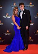 3 November 2017; Cork hurler Darragh Fitzgibbon with Cliodhna Hanley upon arrival at the PwC All Stars 2017 at the Convention Centre in Dublin. Photo by Brendan Moran/Sportsfile