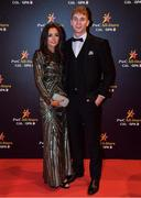 3 November 2017; Kildare footballer Daniel Flynn with Roisin McNally upon arrival at the PwC All Stars 2017 at the Convention Centre in Dublin. Photo by Brendan Moran/Sportsfile