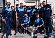 2 October 2016; Dublin manager Jim Gavin and players with the Sam Maguire cup during their visit to the Temple Street Children's Hospital in Dublin.  Photo by Sam Barnes/Sportsfile