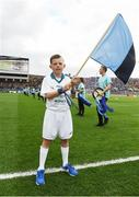 1 October 2016; Pictured is Darragh Dorman, age 11, from Maynooth, Co. Kildare, who won an AIB flagbearer competition to wave on Dublin at the GAA Football All-Ireland Senior Championship Final Replay match between Dublin and Mayo at Croke Park in Dublin. Photo by David Maher/Sportsfile