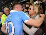 1 October 2016; Paul Flynn of Dublin celebrates with his fiancée Fiona Hudson following the GAA Football All-Ireland Senior Championship Final Replay match between Dublin and Mayo at Croke Park in Dublin. Photo by Sam Barnes/Sportsfile
