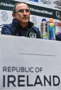 3 October 2016; Republic of Ireland manager Martin O'Neill during a press conference at the FAI National Training Centre in Abbotstown, Dublin. Photo by David Maher/Sportsfile