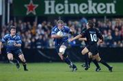 28 September 2001; Victor Costello, Leinster, in action against DavidAucagne, Toulouse. Leinster v Toulouse, Heineken European Cup, Donnybrook, Dublin, Ireland. Rugby. Picture credit; Brendan Moran / SPORTSFILE *EDI*