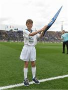 1 October 2016; eir Flagbearer Fiach Lupton, aged 10, from Dublin at the GAA Football All-Ireland Senior Championship Final Replay match between Dublin and Mayo at Croke Park in Dublin. Photo by David Maher/Sportsfile