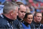 25 September 2016; Dublin manager Gregory McGonigle before the Ladies Football All-Ireland Senior Football Championship Final match between Cork and Dublin at Croke Park in Dublin.  Photo by Brendan Moran/Sportsfile