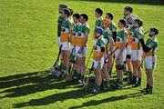 13 February 2011; Offaly players stand together during the National Anthem. Allianz Hurling League, Division 1, Round 1, Cork v Offaly, Pairc Uí Chaoimh, Cork. Picture credit: David Maher / SPORTSFILE