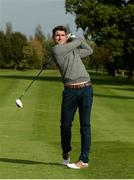 7 October 2016; Dundrum House Hotel Golf and Leisure Resort in Tipperary hosted an star studded fundraising golf day today with proceeds going to the Tipp Players Training Fund, the Dublin Players Training Fund and Tallaght Community Arts, TCA. All-Ireland Hurling Champions Darren Gleeson, Séamus Callanan, Bubbles O'Dwyer, Brendan Maher & Noel McGrath were joined by All-Ireland Football winner Bernard Brogan and a host of sporting celebrities on the Championship Course at Dundrum House in Dundrum, Co Tipperary. Pictured is Dublin footballer Bernard Brogan. Photo by Piaras Ó Mídheach/Sportsfile