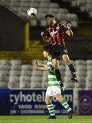7 October 2016; Roberto Lopes of Bohemians in action against Aaron Bolger of Shamrock Rovers during the SSE Airtricity League Premier Division match between Bohemians and Shamrock Rovers at Dalymount Park in Dublin.  Photo by Paul Mohan/Sportsfile