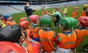 8 October 2016; Kilkenny hurler Richie Hogan, right, and Waterford hurler Mauirce Shanahan teach blocking techniques to members of the Shamrocks GAA Club from Co Offaly at Croke Park today which played host to some of Ireland's most talented hurlers, along with over 500 children, who lined-out to learn tips and skills from their hurling heroes as part of Centra's Live Well hurling initiative. The participating children, who experienced a once in a lifetime opportunity, came from 12 lucky GAA clubs who each claimed their very special spot by winning a Live Well hurling challenge during the summer. Croke Park, Dublin. Photo by Cody Glenn/Sportsfile