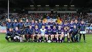 23 January 2011; The Kilmacud Crokes panel, back row, left to right, Liam McBarron, Eoin Culligan, Rory O'Carroll, Nicky McGrath, Craig Dias, Niall Behan, Karl Dias, Kevin Nolan, Brian Kavanagh, Paddy Duggan, Mark Coughlan, Declan Maher, Declan Kelliher, Ross O'Carroll, Brian Hanamy, Joe Mooney, front row, left to right, Alan Carr, Ronan Ryan, Conor Lamb, Barry O'Rorke, Adrian Morrissey, David Nestor, Pat Burke, Cian O'Sullivan, Liam îg î hEineacháin, Mark Vaughan and Ray Cosgrove. AIB Leinster GAA Football All-Ireland Senior Club Championship Final, Rhode v Kilmacud Crokes, O'Moore Park, Portlaoise, Co. Laois. Picture credit: Dáire Brennan / SPORTSFILE