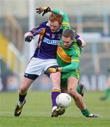 23 January 2011; Mark Vaughan, Kilmacud Crokes, in action against Shane Sullivan, Rhode. AIB Leinster GAA Football All-Ireland Senior Club Championship Final, Rhode v Kilmacud Crokes, O'Moore Park, Portlaoise, Co. Laois. Picture credit: Dáire Brennan / SPORTSFILE