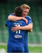8 October 2016; Paul O'Conor of Limerick FC celebrates with team-mate Shane Tracy after scoring his side's first goal during the SSE Airtricity League First Division match between Limerick FC and Drogheda United at The Markets Field in Limerick. Photo by Diarmuid Greene/Sportsfile