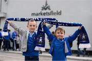 8 October 2016; Limerick FC supporters Louie Sheedy, aged 7, from Limerick, left, and Jack Landers, aged 6, from Newport, Co. Tipperary, before the SSE Airtricity League First Division match between Limerick FC and Drogheda United at The Markets Field in Limerick. Photo by Diarmuid Greene/Sportsfile