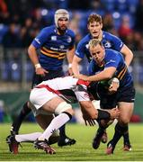 8 October 2016; Bryan Byrne of Leinster is tackled by Dan Tuohy of Ulster during the Interprovincial Friendly match between Leinster A and Ulster Ravens at Donnybrook Stadium in Dublin. Photo by Stephen McCarthy/Sportsfile