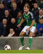 8 October 2016; Niall McGinn of Northern Ireland during the FIFA World Cup Group C Qualifier match between Northern Ireland and San Marino at Windsor Park in Belfast. Photo by David Fitzgerald/Sportsfile