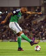 8 October 2016; Josh Magennis of Northern Ireland during the FIFA World Cup Group C Qualifier match between Northern Ireland and San Marino at Windsor Park in Belfast. Photo by David Fitzgerald/Sportsfile
