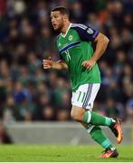 8 October 2016; Conor Washington of Northern Ireland during the FIFA World Cup Group C Qualifier match between Northern Ireland and San Marino at Windsor Park in Belfast. Photo by David Fitzgerald/Sportsfile