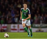 8 October 2016; Jonny Evans of Northern Ireland during the FIFA World Cup Group C Qualifier match between Northern Ireland and San Marino at Windsor Park in Belfast. Photo by David Fitzgerald/Sportsfile
