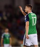 8 October 2016; Paddy McNair of Northern Ireland following victory after the FIFA World Cup Group C Qualifier match between Northern Ireland and San Marino at Windsor Park in Belfast. Photo by David Fitzgerald/Sportsfile