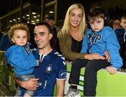 8 October 2016; Shane Tracy of Limerick FC celebrates with his partner April and their children Aidan, aged 18 months, left, and Jack, aged 5, after the SSE Airtricity League First Division match between Limerick FC and Drogheda United at The Markets Field in Limerick. Photo by Diarmuid Greene/Sportsfile