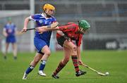 20 February 2011; Orla Cotter, University College Cork, in action against Jean Brady, Waterford IT. Ashbourne Cup Final, University College Cork v Waterford IT, Pearse Stadium, Salthill, Galway. Picture credit: David Maher / SPORTSFILE