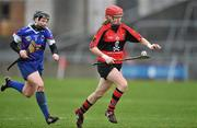 20 February 2011; Grainne Kenneally, University College Cork, in action against Katie Power, Waterford IT. Ashbourne Cup Final, University College Cork v Waterford IT, Pearse Stadium, Salthill, Galway. Picture credit: David Maher / SPORTSFILE
