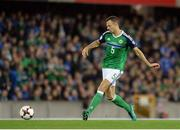 8 October 2016; Jonny Evans of Northern Ireland during the FIFA World Cup Group C Qualifier match between Northern Ireland and San Marino at Windsor Park in Belfast. Photo by Oliver McVeigh/Sportsfile
