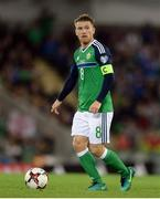 8 October 2016; Steve Davis of Northern Ireland during the FIFA World Cup Group C Qualifier match between Northern Ireland and San Marino at Windsor Park in Belfast. Photo by Oliver McVeigh/Sportsfile