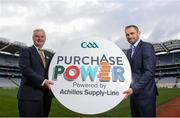 12 October 2016; Uachtarán Chumann Lúthchleas Gael Aogán Ó Fearghail, left, and Alan Brogan, Commercial Director Custodian Print, in attendance at the launch of GAA Purchase Power at Croke Park in Dublin. Photo by Sam Barnes/Sportsfile